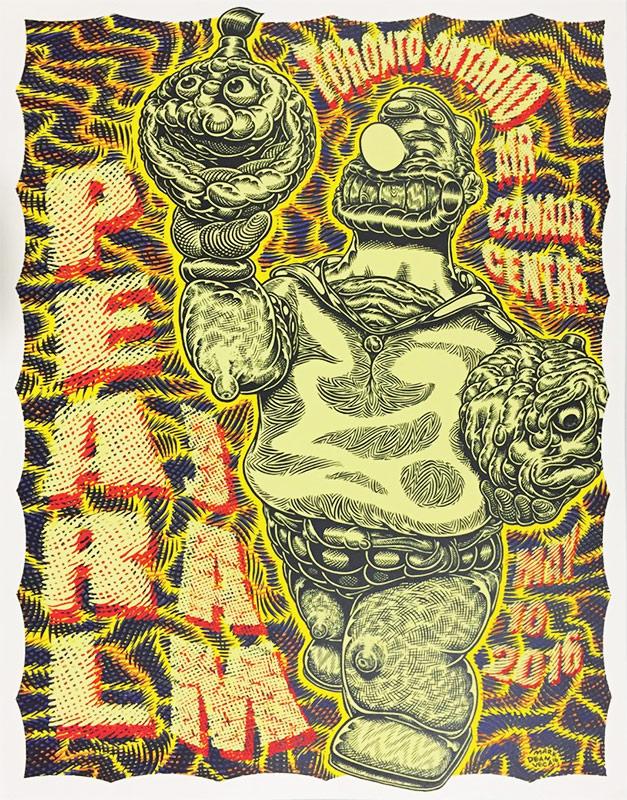 Mark Dean Veca Pearl Jam Toronto Poster 2016