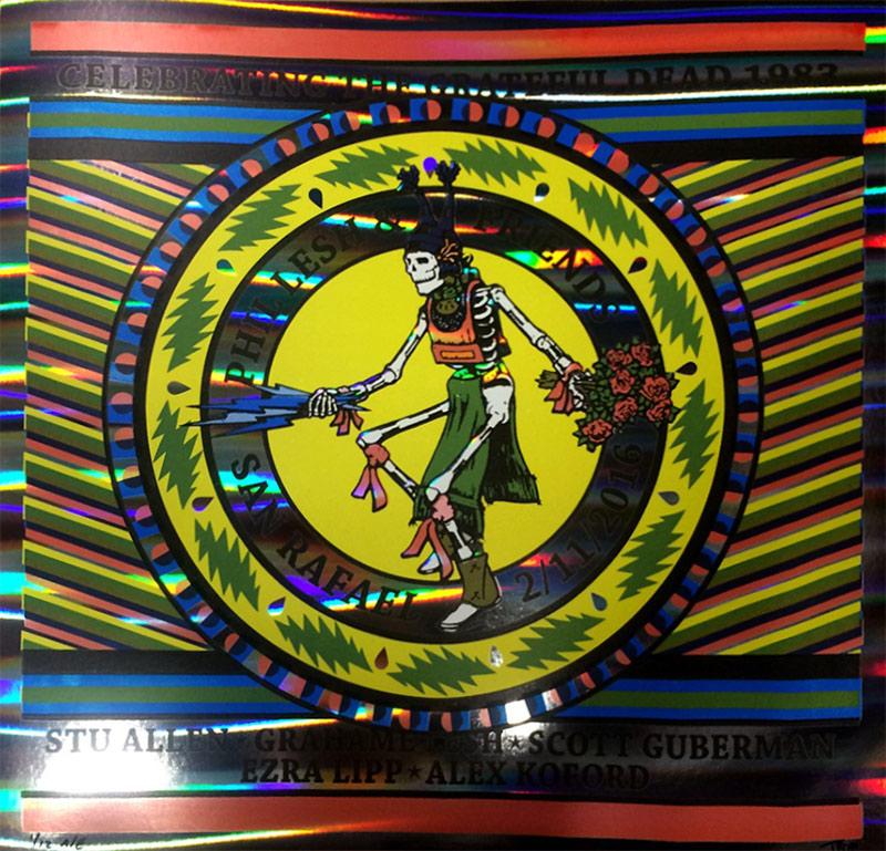 Phil Lesh 1983 poster foil