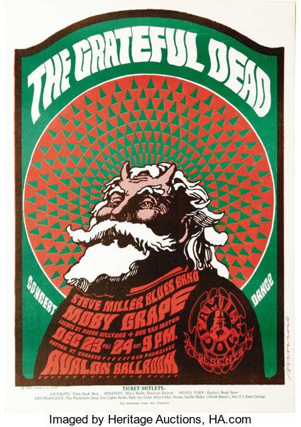 Grateful Dead Avalon Ballroom 12/23-24/ 1966