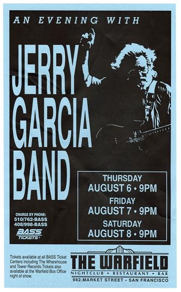 Jerry Garcia band Warfield