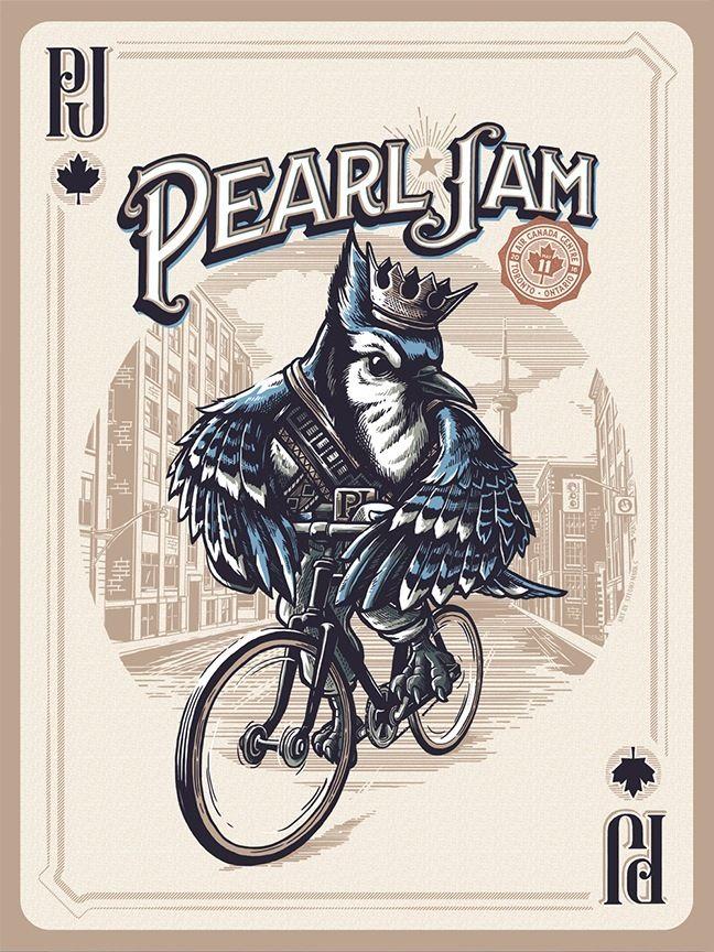 pearl jam toronto poster blue jay