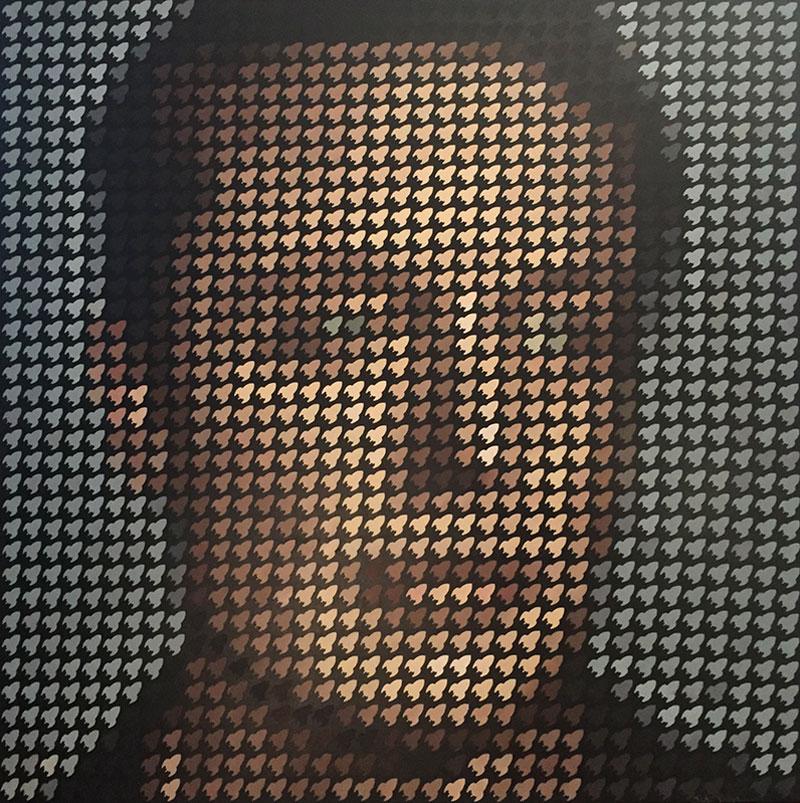 Elon musk pixel painting