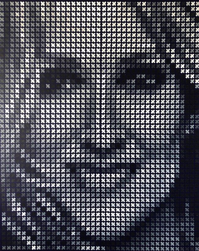 celine dion pixel painting