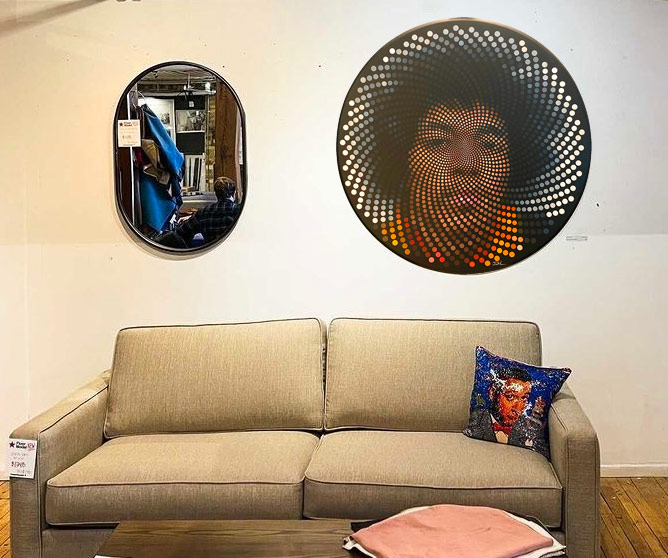 Jimi Hendrix painting at Turnpike Collective